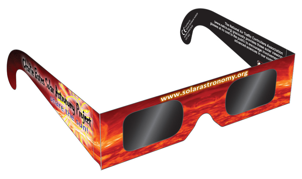 Eclipse Glasses_ Charlie Bates Solar Astronomy Project.  Safe for Direct Solar Viewing.     Shop Here