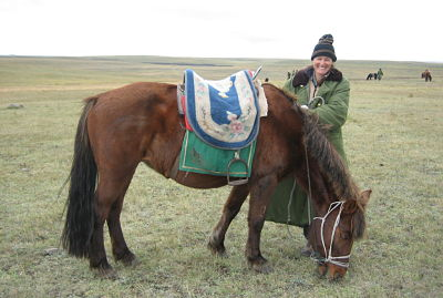 Feeling right at home in Mongolia