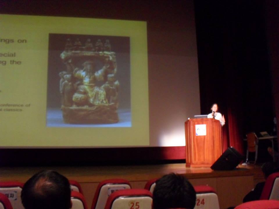 Teaching at the International Conference on Traditional Medical Classics in Sancheong, South Korea, in 2013.