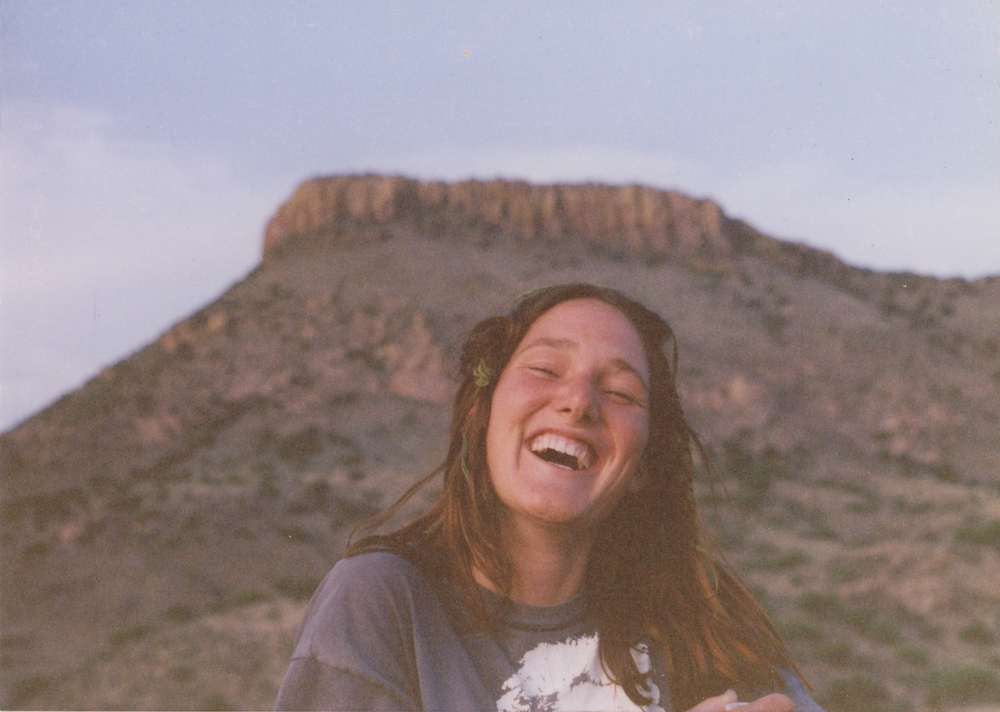 me ages ago in the Sonoran desert celebrating May Day with seaweed in my hair...