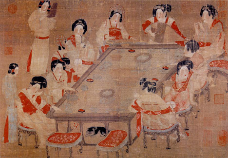 Palace concert, northern song dynasty.