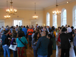 Packed reception at the Mass Poetry Festival 2013