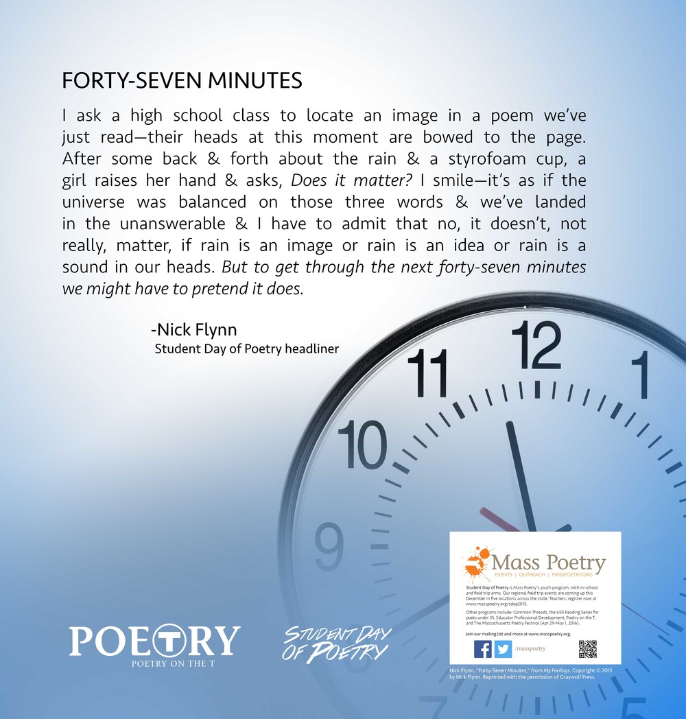 "Nick Flynn, ""Forty-Seven Minutes"""