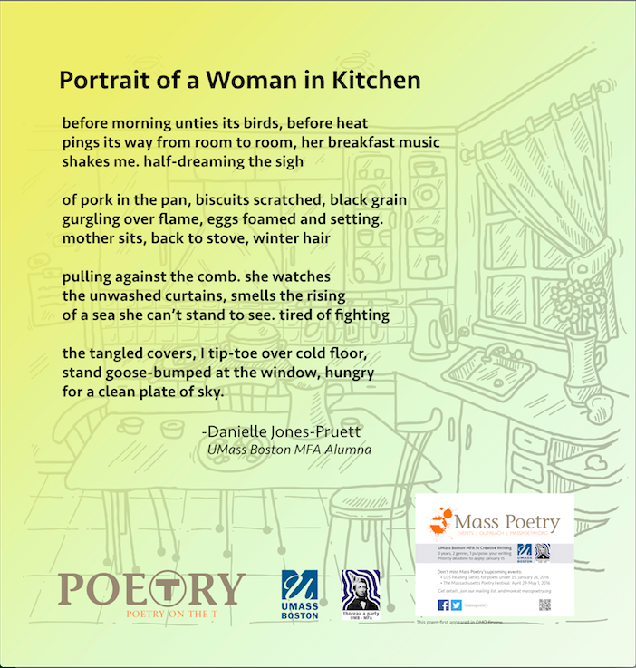 "Danielle Jones-Pruett, ""Portrait of a Woman in Kitchen"""