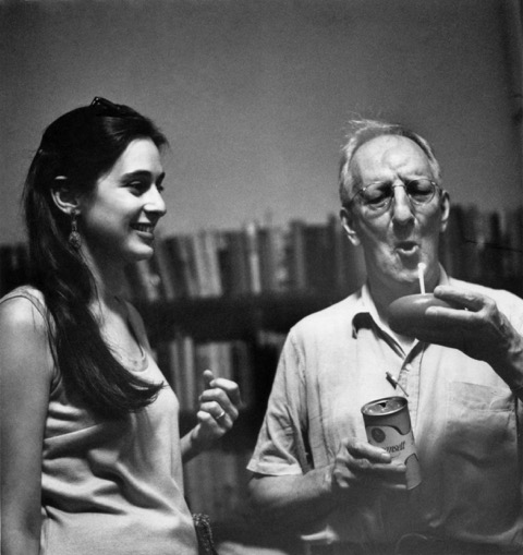 Gail Mazur and Gordon Cairnie, owner of the Grolier Poetry Book Shop, in the late 1960s. Photo by Elsa Dorfman.