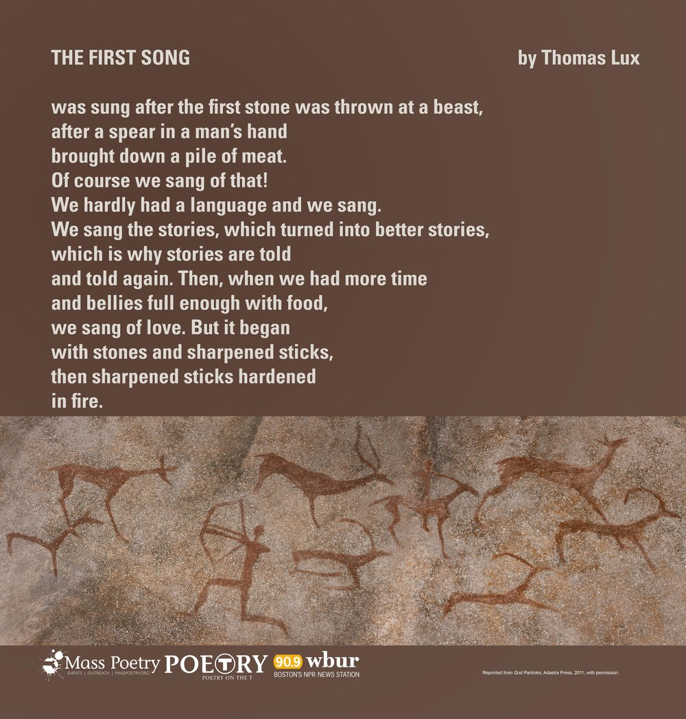 "Thomas Lux, ""The First Song"""