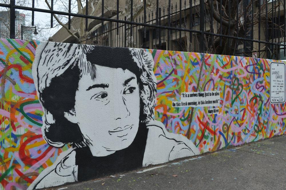 Mary Oliver mural.JPG