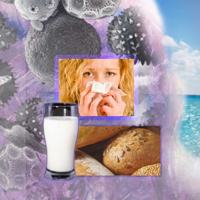 What are you allergic to? Gluten, milk, pollen, dust mites,mold, pets, .....