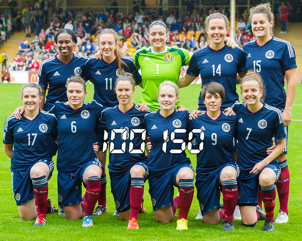 01 Gemma Fay     04 Ifeoma Dieke     06 Joanne Love     07 Hayley Lauder 08 Kim Little 09 Megan Sneddon     11 Lisa Evans 13 Jane Ross 14 Rachel Corsie     15 Jennifer Beattie 17 Frankie Brown