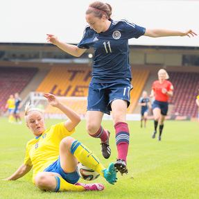 scotland v sweden — Women's World Cup 2015 Qualifier — 14-06-14