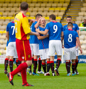 albion rovers v rangers — 28-07-13