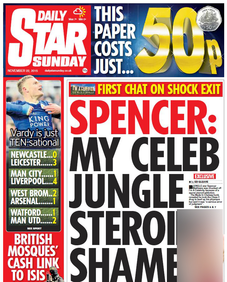 Daily Star 22 November 2015 Chris McCluskie.JPG