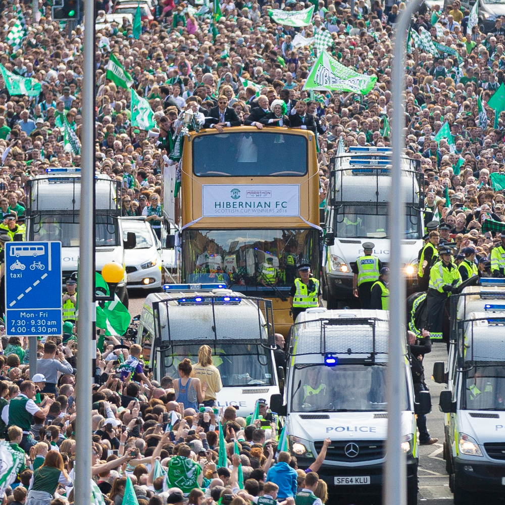 Hibs Scottish Cup Parade