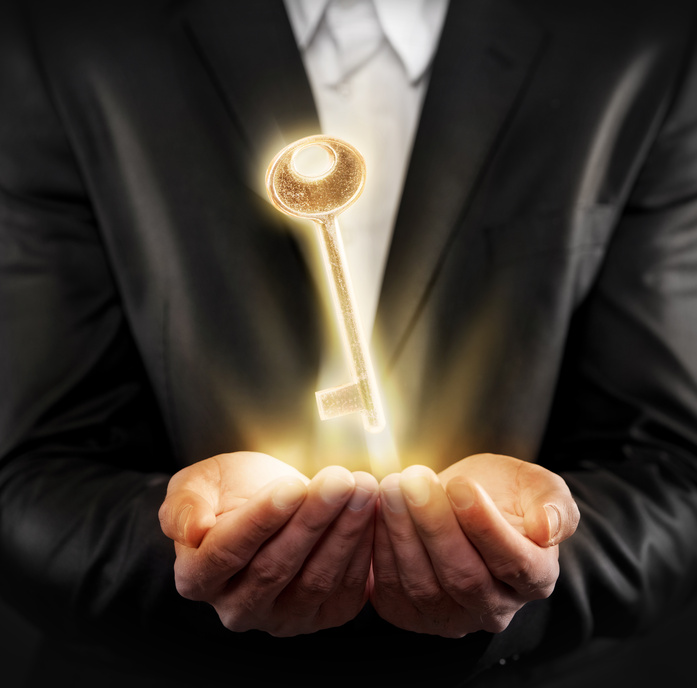 Golden Key in hand
