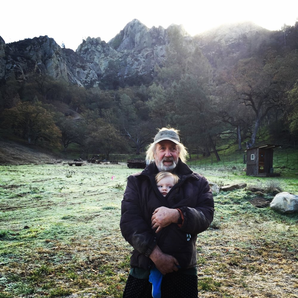 John on his property in Los Padres NF.