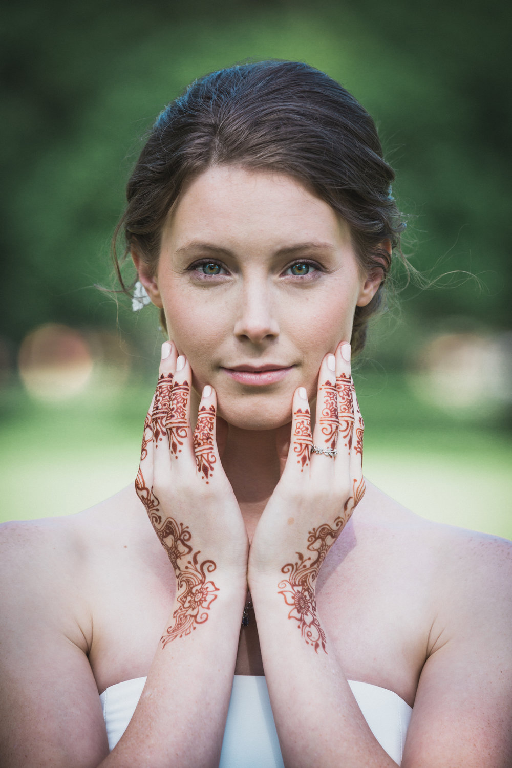 Chicago Bride with Henna, Lane Tech High School, Chicago Wedding Photography - Amy Stallard Photography