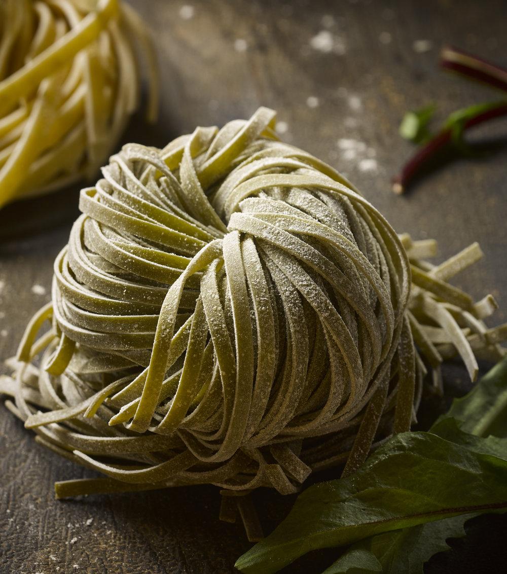 Fresh arugula pasta - Amy Stallard Photography