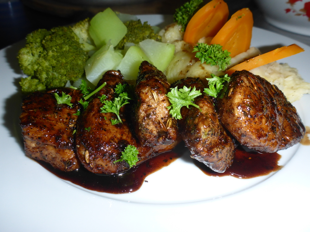 A popular special - our Spiced Pork Medallions with a Maple & Balsamic Glaze.