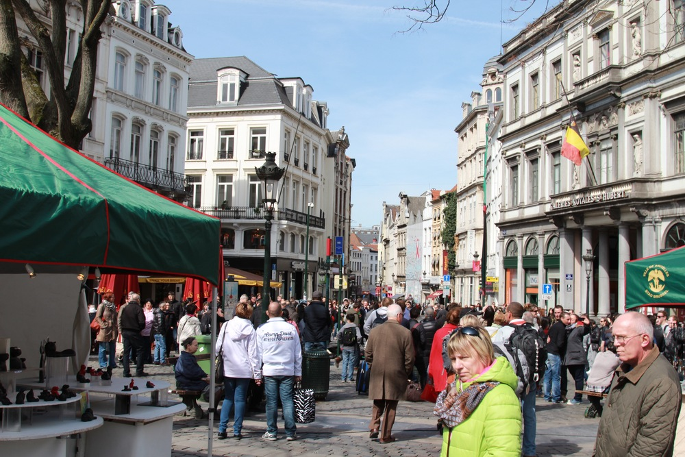 An example of the pedestrian streets