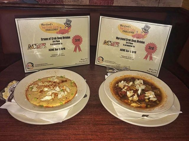 We are proud to announce that BOTH of our crab soups came in 3rd place in Marylands Top Crab Cake Challenge! Stop in and try one for lunch today 🤤