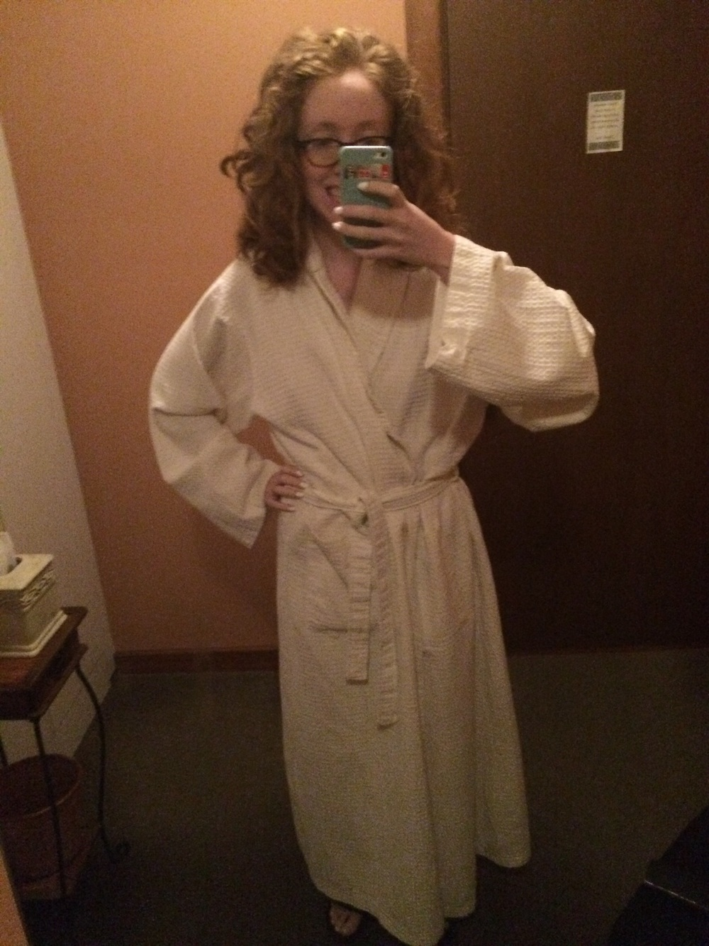 I got to wear an enormous robe! It was almost as big as my hair!