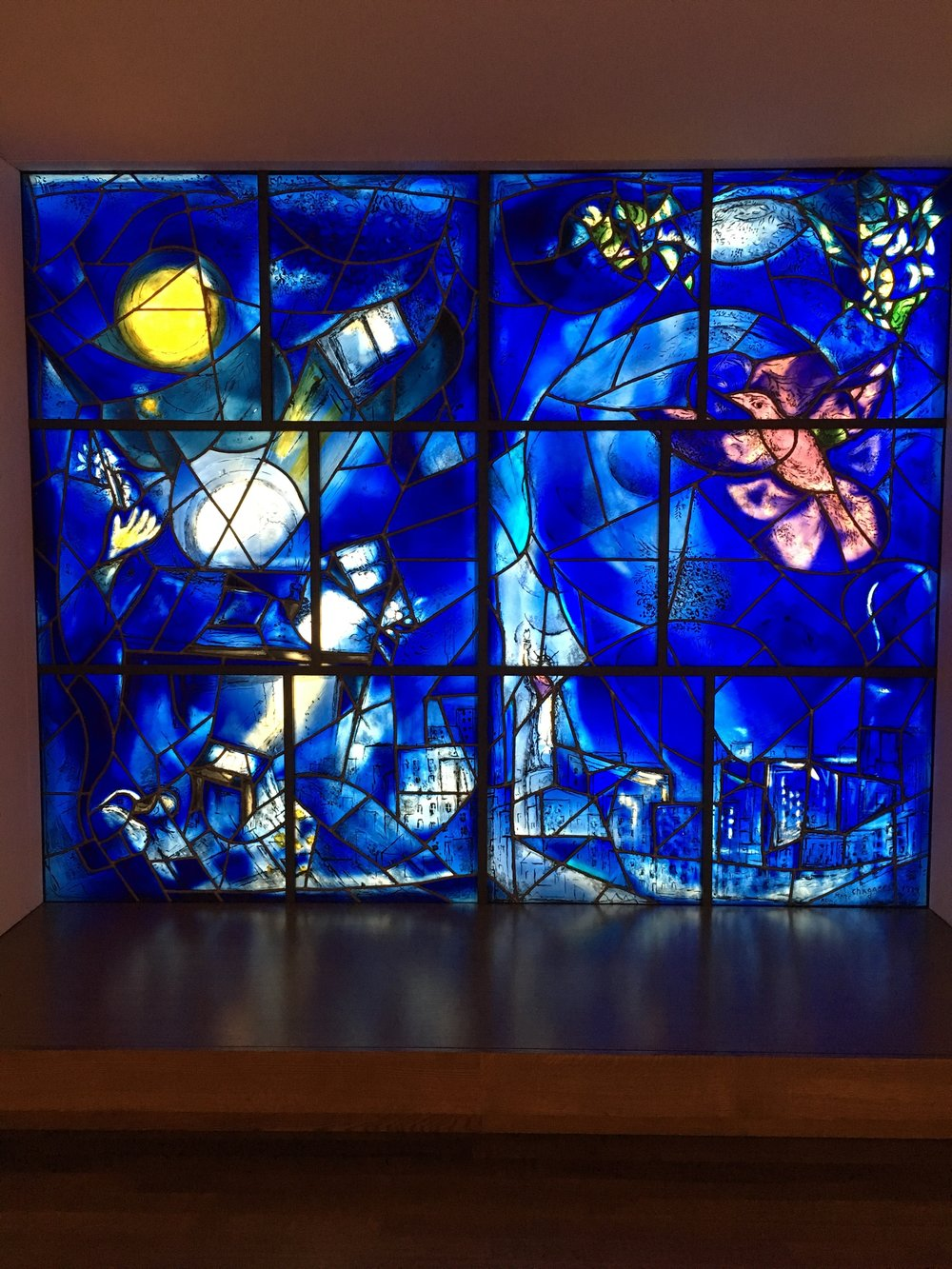 Marc Chagall's America Windows (which you might recognize from  Ferris Bueller's Day Off !).