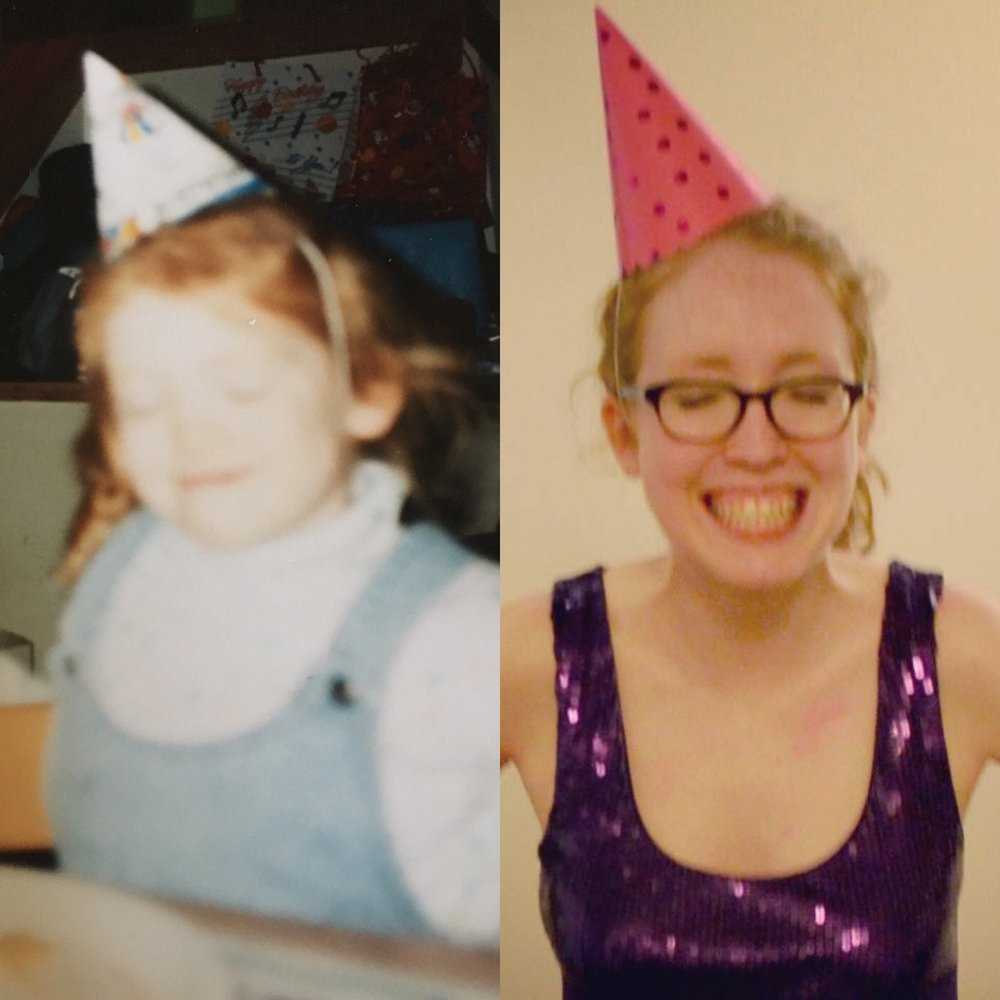 How did my 29-year-old self get a better party hat than my 4-year-old self?