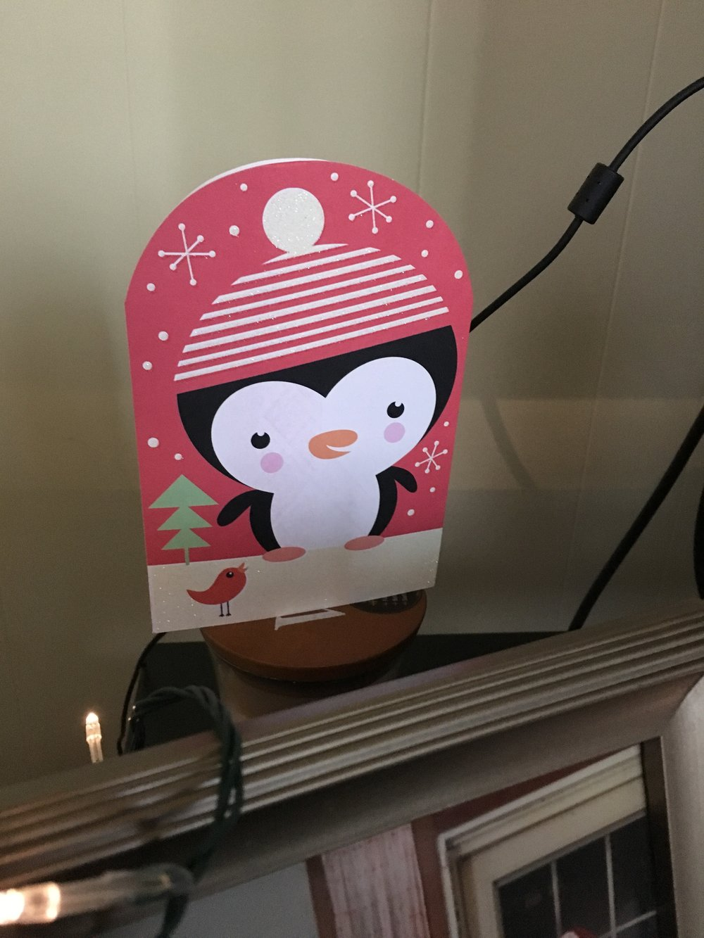 "Nothing says ""Merry Christmas"" like a sparkly penguin in a hat!"