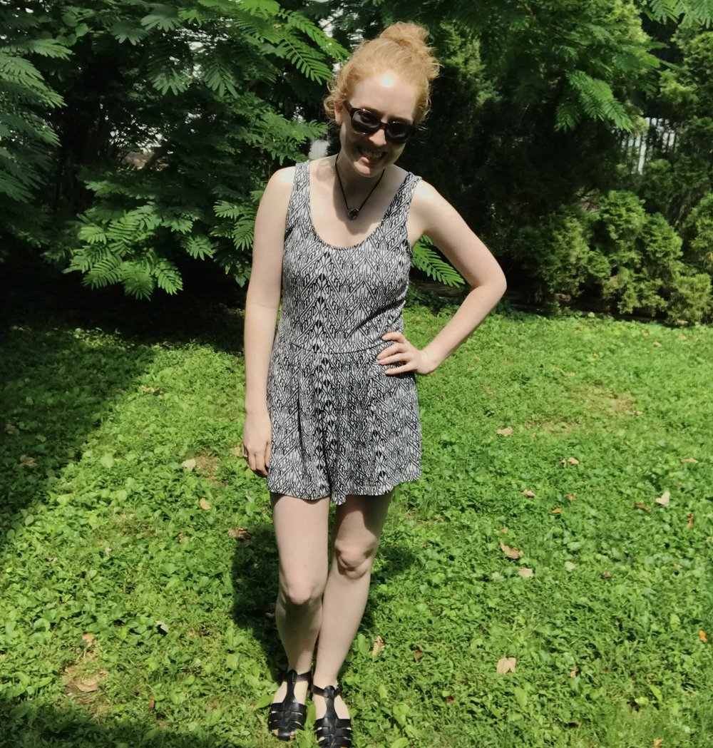 Romper: Old Navy (2015) | Sandals: White Mountain (2015) | Sunglasses: Kate Spade (2012)