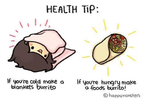 Life lesson, if you're too cold, make a burrito then become a burrito! Come and enjoy this cold weather with the team at Mojo Mama order on deliveroo to have it fresh to your door and we will make sure your burrito is the perfect temperature to get you warm! Open from 5:30pm . . . #mexican #mexicanfood #burrito #burritomemes #geelong #geelongfood #mojo #mojomama #beefbandito #deliveroo #warm #warmyouup