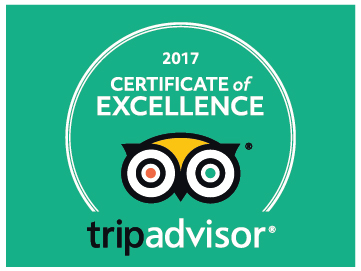 For 6 consecutive years in a row we've been awarded the Trip Advisor Certificate of Excellence. Click the image to find out why!