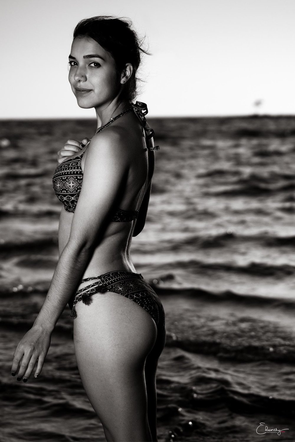 Black and White Bikini Shoot