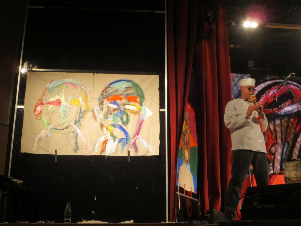 Jasun Martz performs in Saint Petersburg, Russia