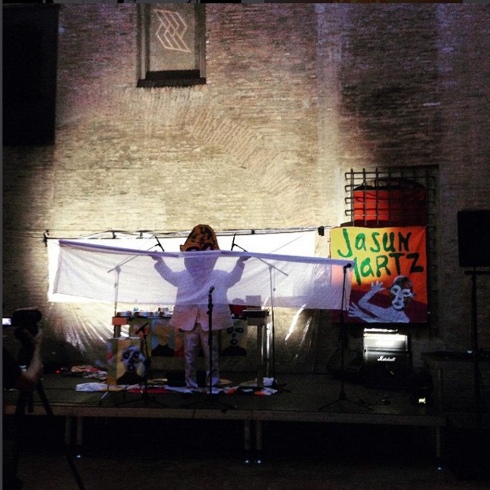 Jasun Martz performs in Bologna, Italy