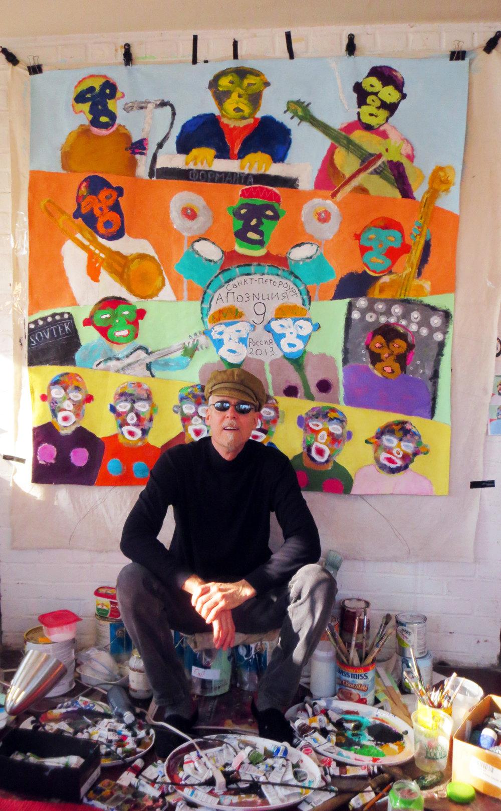 Jasun Martz in his art studio in New York