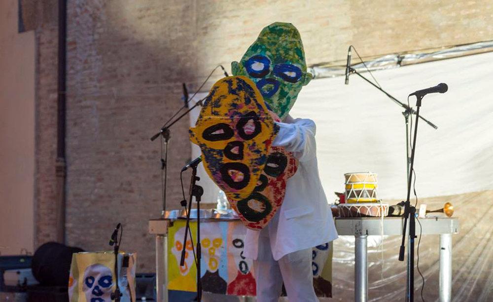 Jasun Martz performance art in Bologna, Italy