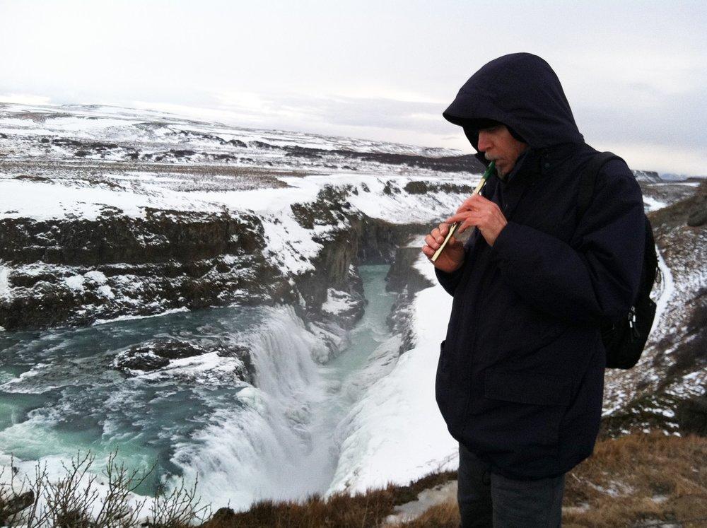 Jasun Martz recording in Iceland