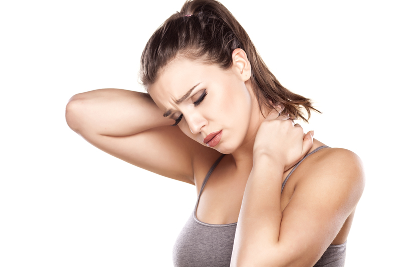 Neck pain is often caused by bad posture