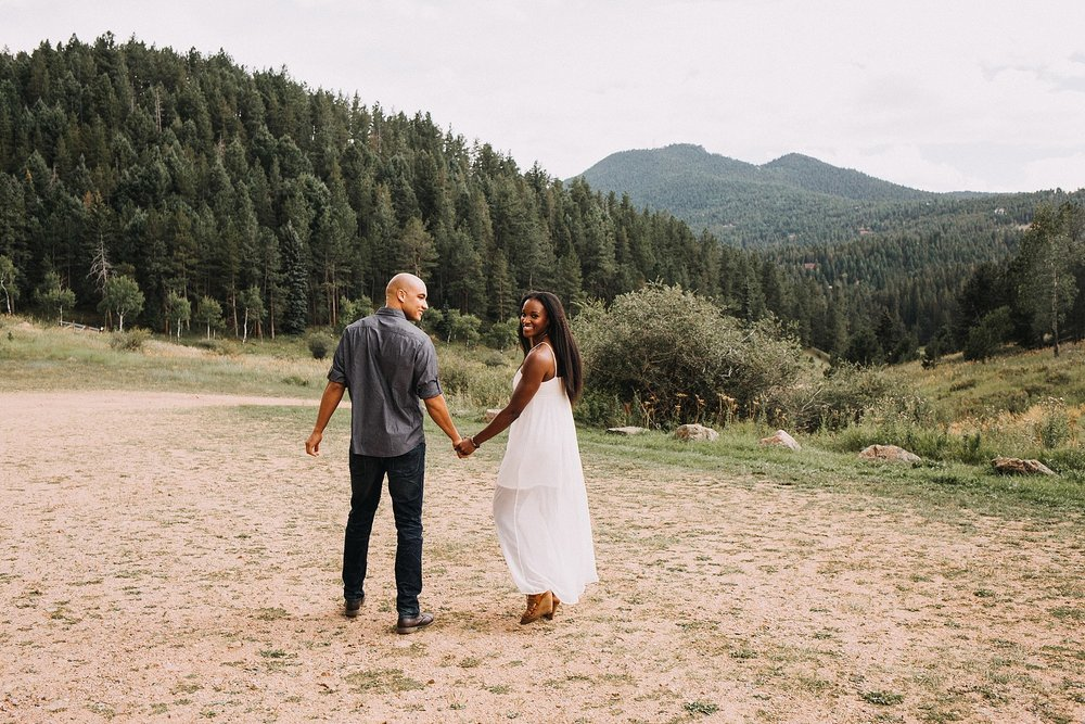 Alicia and Jeremiah - Newton Park Engagement | Conifer, CO
