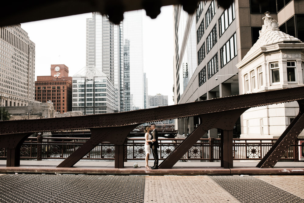 Melinda and Dan - City Wedding | South Branch Chicago