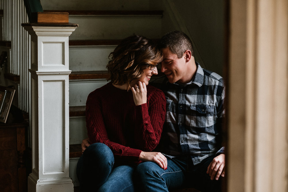 Sally and Luke - Fall Engagement Session   1920'S Family Home   Palatine, IL