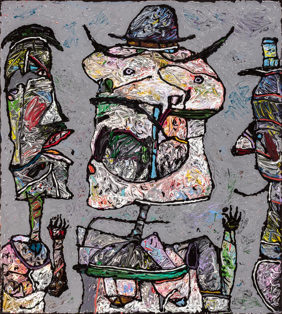 "Nasty Talk in the Rainbow Tavern, 1988 – 40""x36"""