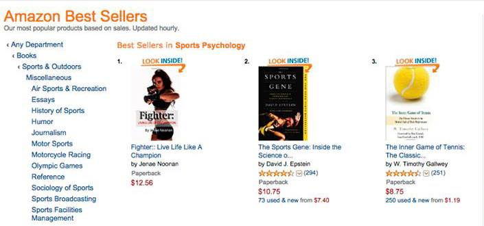 Book hitting #1 on best sellers list