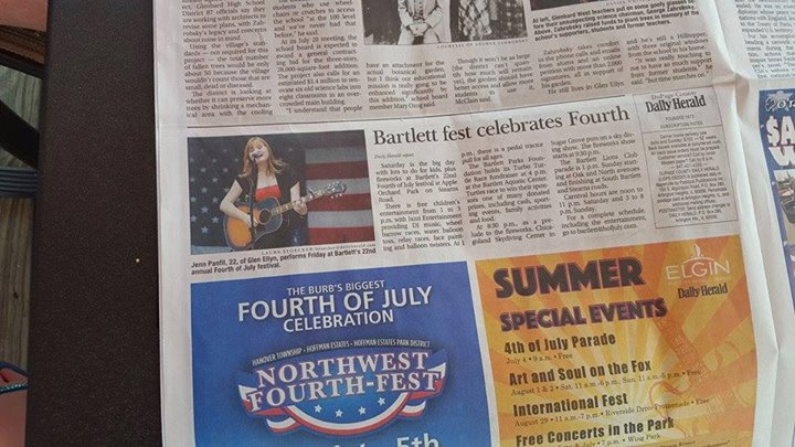 Performing at Bartlett's 4th of July Festival, great coverage from The Daily Herald!