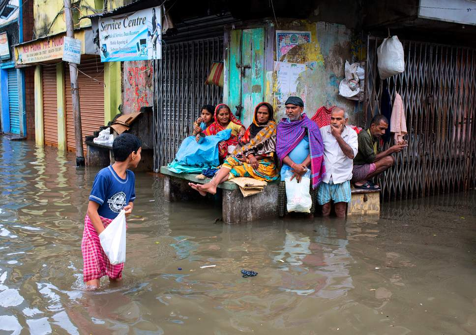 Floodwaters in Kolkata. Image: The Independent