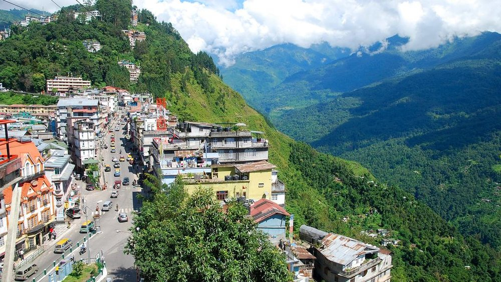 Urban growth on the hillsides of Gangtok, Sikkim. Image: The National