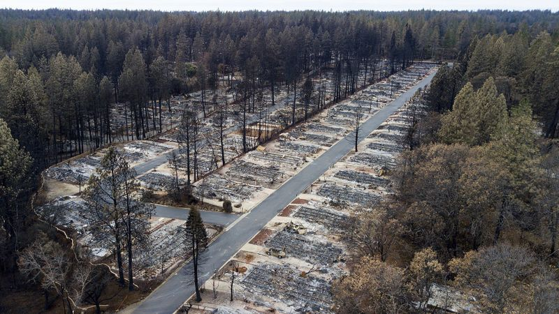 Burned mobile home park in Paradise, CA Image: Noah Berger / Associated Press