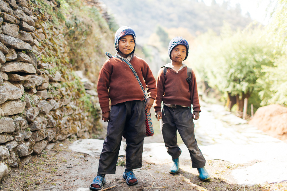 Annapurna Kids - Annapurna Region of Nepal  Taken while on a seven day trek to reach a Tibetan refugee camp high up in the Annapurnas of Nepal.
