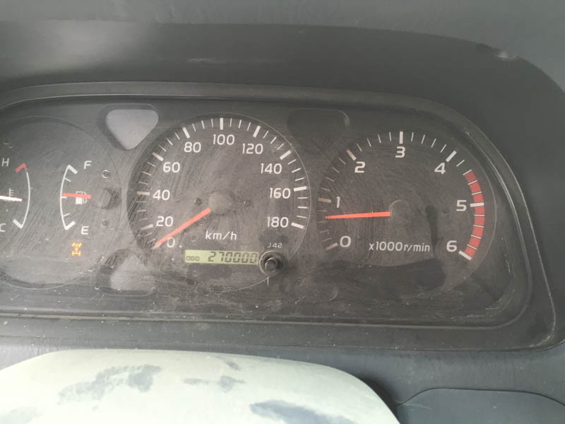 The Land Cruiser hits 270,000km
