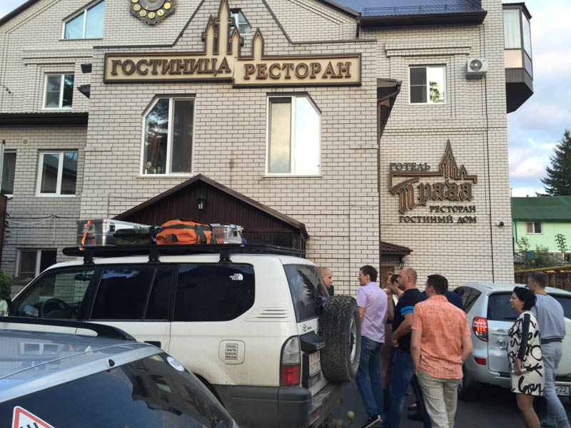 One night in Barnaul Russia - 1500km in two days to get to Mongolia